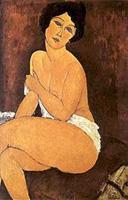 Desnudo sentado en un diván (Amadeo Modigliani)